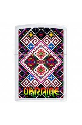 Зажигалка Zippo Classics Ukraine Pattern 1 White Matte Zp214up1, США