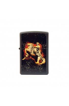 Зажигалка Zippo Classics Flaming Cossack Black Matte Zp218fc, США