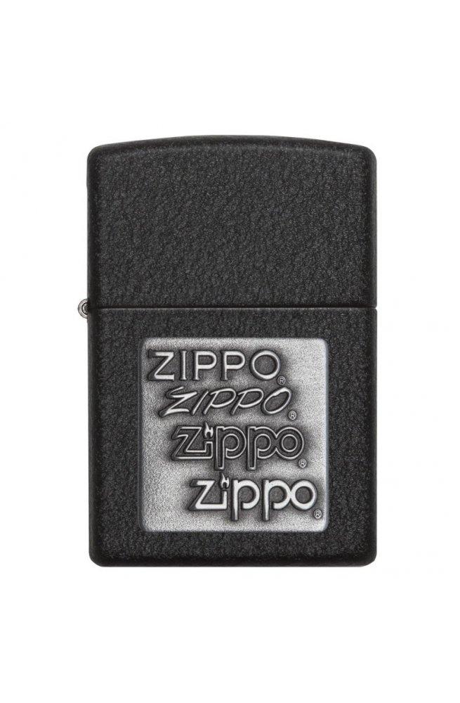 Зажигалка Zippo Classics Pewter Emblem Black Crackle Zp363