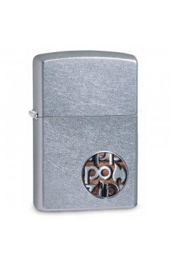 Зажигалка Zippo Classics Button Logo Street Chrome Zp29872