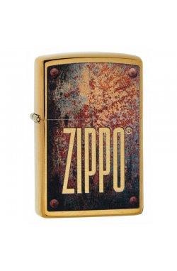 Зажигалка Zippo Classics Rusty Plate Brushed Brass Zp29879
