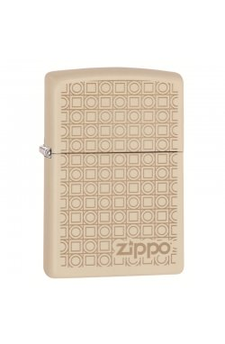 Зажигалка Zippo Classics Geometric Boxes Design Cream Matte Zp29923