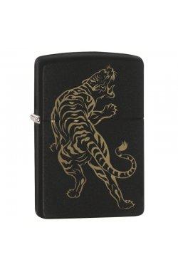 Зажигалка Zippo Classics Tiger Design Black Matte Zp29924