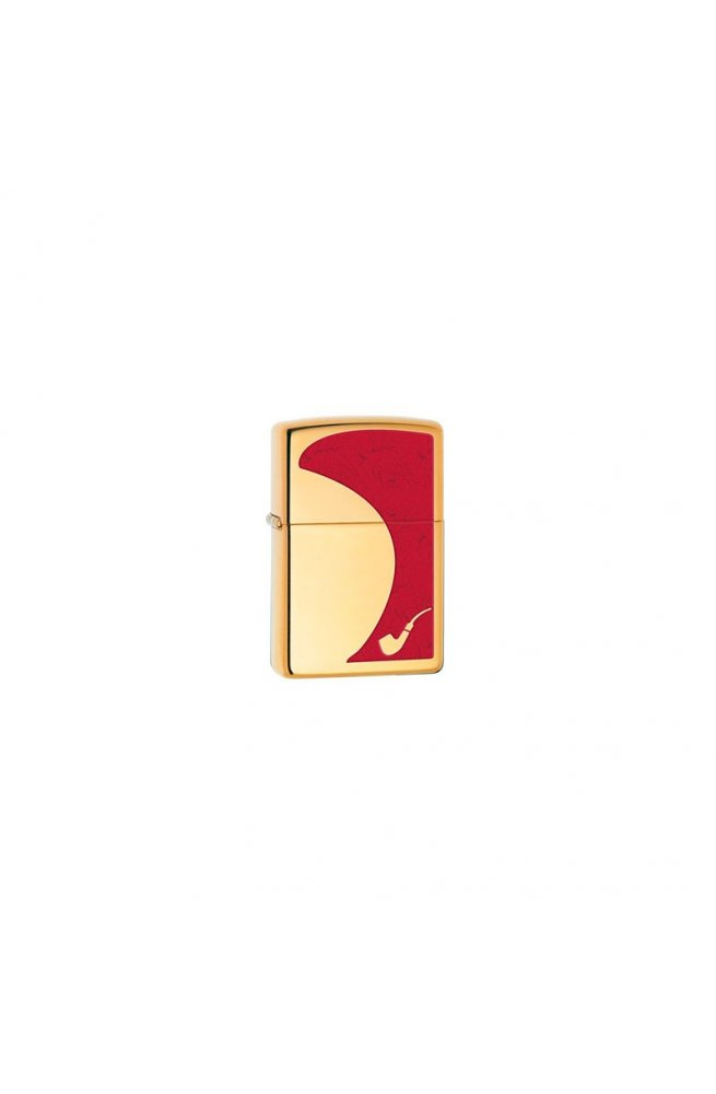 Зажигалка Zippo Pipe Red High Polish Brass Zp28322