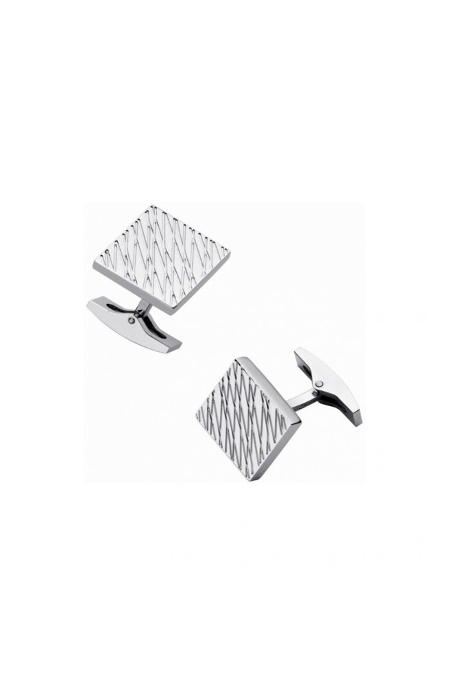 Запонки ST Dupont Diamond Leather Grain Du5265