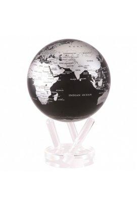 Глобус Mova самоврощающийся Политическая карта Д153, черный с серебром MG-6-SBE, США