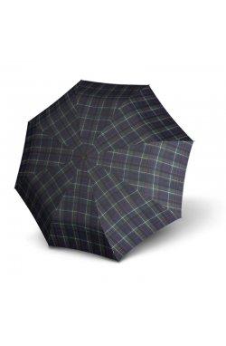Зонт складной Knirps T.200 Medium Duomatic Check Blue&Green Kn9532005180