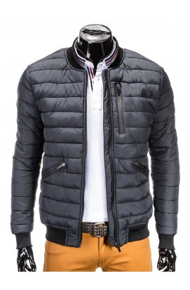 MEN'S PID-SEASON QUILTED BOMBER Куртка мужская K321 - серый