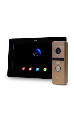 "Комплект Wi-Fi видеодомофона 7"" ATIS AD-770FHD/T-Black с поддержкой Tuya Smart + AT-400HD Gold"