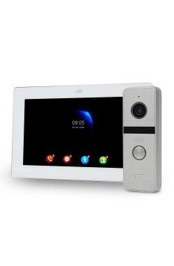 "Комплект Wi-Fi видеодомофона 7"" ATIS AD-770FHD/T-White с поддержкой Tuya Smart + AT-400HD Silver"