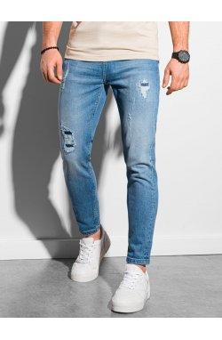 Мужские джинсовые штаны P938 - синий - Ombre