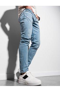 Мужские джинсовые штаны P936 - синий - Ombre