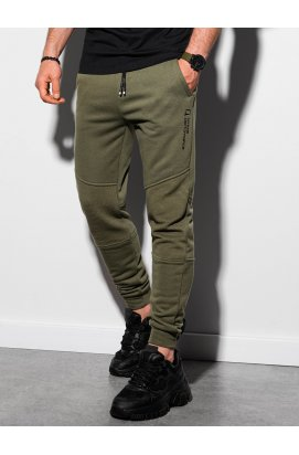 Чоловічі спортивні штани P954 - оливковий - Ombre