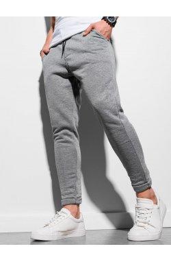Мужские спортивные штаны P949 - серый меланж - Ombre