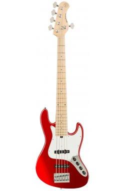Бас-гитара SADOWSKY MetroExpress 21-Fret Vintage J/J Bass, Maple, 5-String (Candy Apple Red Metallic)