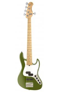 Бас-гитара SADOWSKY MetroExpress 21-Fret Hybrid P/J Bass, Maple, 5-String (Solid Sage Green Metallic Satin)