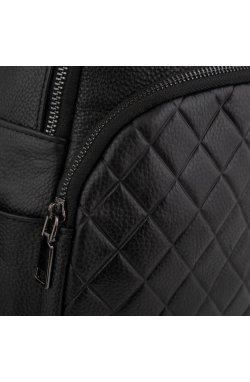 Женский кожаный черный рюкзак Riche NM20-W322A - натуральная кожа, черный
