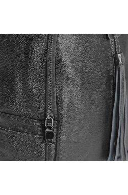 Женский рюкзак черный Olivia Leather NWBP27-6627A - натуральная кожа, черный