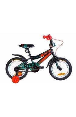 """Детский Велосипед Велосипед 14"""" Formula RACE 2021 (бело-сиреневый с оранжевым)"""