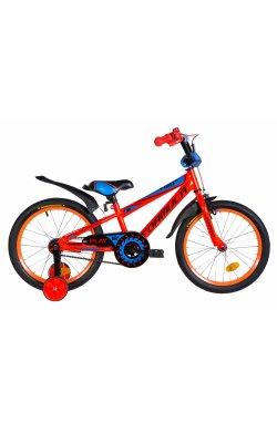 """Детский Велосипед Велосипед 18"""" Formula SPORT 2021 (оранжево-синий с черным)"""