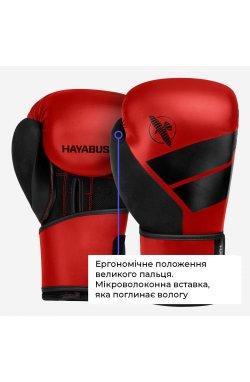 Боксерские перчатки Hayabusa  4 - Красные, 12oz (Original)  , Кожа