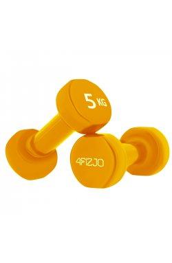 Гантели виниловые 4FIZJO 2 x 5 кг 4FJ0210