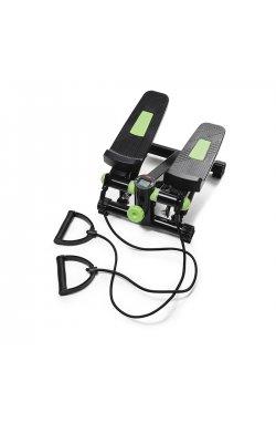 Степпер (мини-степпер) с эспандерами 4FIZJO 4fj0212 Black/Green