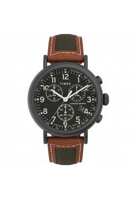 Мужские часы Timex STANDARD Chrono Tx2u58000, Циферблат - Чёрный, Корпус - Серый, США