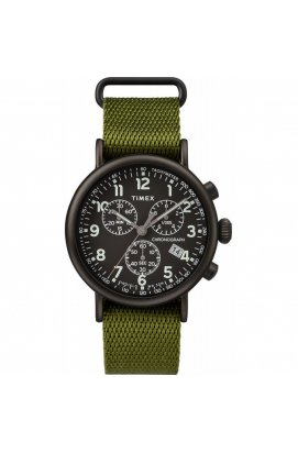 Мужские часы Timex STANDARD Chrono Tx2t21400, Циферблат - Чёрный, Корпус - Черный, США