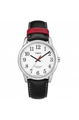 Мужские часы Timex Easy Reader Tx2r40000, Циферблат - Белый, Корпус - Серебристый, США