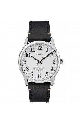 Мужские часы Timex Easy Reader Tx2r35700, Циферблат - Белый, Корпус - Серебристый, США