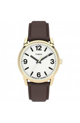 Мужские часы Timex EASY READER Bold Tx2u71500, Циферблат - Белый, Корпус - Золотистый, США