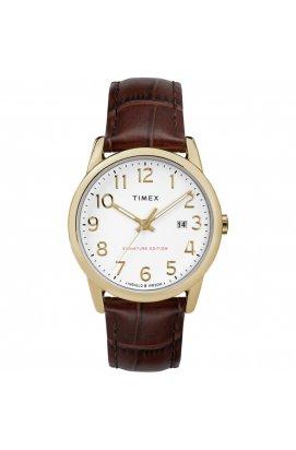 Чоловічі годинники Timex EASY READER Signature Tx2r65100, Циферблат - Білий, Корпус - Позолота, США