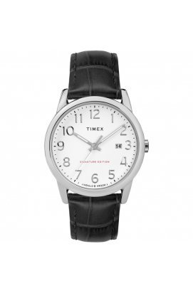 Мужские часы Timex EASY READER Signature Tx2r64900, Циферблат - Белый, Корпус - Серебристый, США