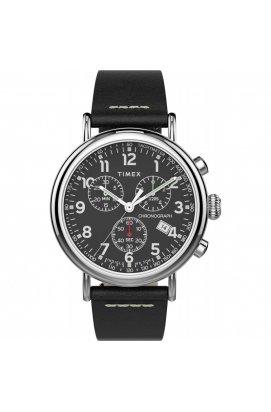 Мужские часы Timex STANDARD Chrono Tx2t69100, Циферблат - Чёрный, Корпус - Сталь, США