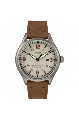 Мужские часы Timex Waterbury Tx2r38600, Циферблат - Бежевый, Корпус - Серый, США