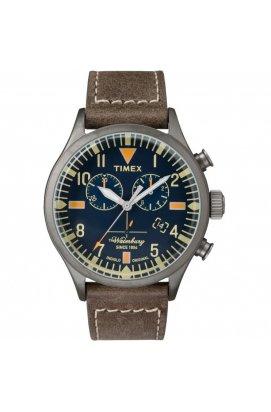 Мужские часы Timex WATERBURY Chrono Tx2p84100, Циферблат - Синий, Корпус - Серый, США