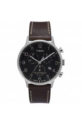 Мужские часы Timex WATERBURY Classic Chrono Tx2t28200, Циферблат - Чёрный, Корпус - Сталь, США