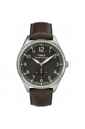 Мужские часы Timex WATERBURY Sub Second Tx2r88800, Циферблат - Чёрный, Корпус - Сталь, США