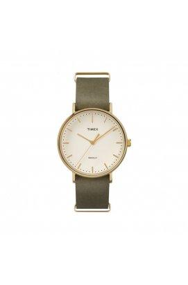 Чоловічі годинники Timex FAIRFIELD Tx2p98000, Циферблат - Бежевий, Корпус - Позолота, США