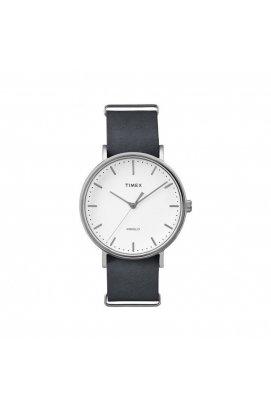 Мужские часы Timex FAIRFIELD Tx2p91300, Циферблат - Белый, Корпус - Сталь, США