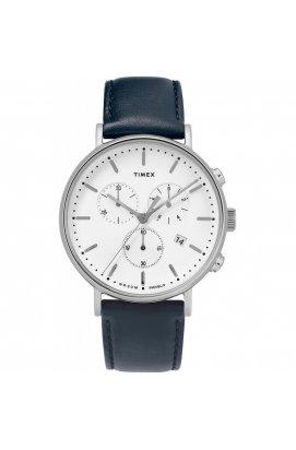 Мужские часы Timex FAIRFIELD Chrono Tx2t32500, Циферблат - Белый, Корпус - Сталь, США