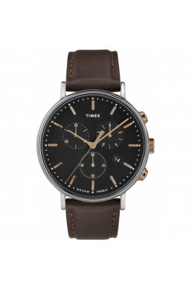 Мужские часы Timex FAIRFIELD Chrono Tx2t11500, Циферблат - Чёрный, США