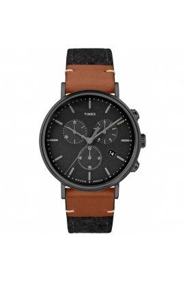 Мужские часы Timex FAIRFIELD Chrono Tx2r62100, Циферблат - Чёрный, Корпус - Черный, США
