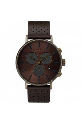 Мужские наручные часы Timex FAIRFIELD Chrono Supernova Tx2r80100, Циферблат - Коричневый, Корпус - Бронзовый, США