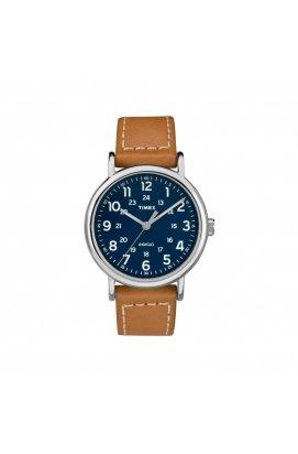 Мужские часы Timex Weekender Tx2r42500, Циферблат - Синий, Корпус - Сталь, США