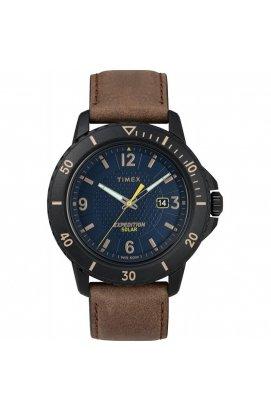 Мужские часы Timex EXPEDITION Gallatin Solar Tx4b14600, Циферблат - Синий, Корпус - Черный, США