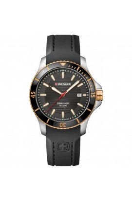 Чоловічі годинники Wenger Watch SEAFORCE W01.0641.126, Циферблат - Чорний, Швейцарія