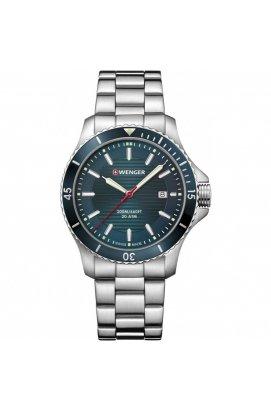 Чоловічі наручні годинники Wenger SEAFORCE W01.0641.129, Циферблат - Синій, Корпус - Сталь, Швейцарія