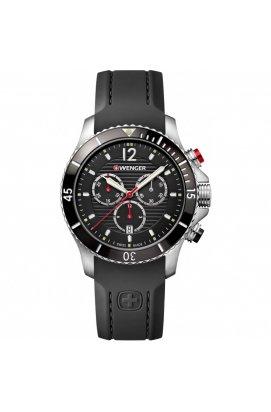 Мужские часы Wenger Watch SEAFORCE Chrono W01.0643.108, Циферблат - Чёрный, Корпус - Сталь, Швейцария